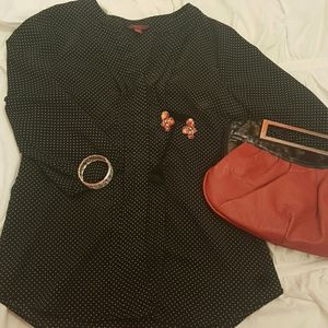 Polka dot blouse! Size small :)